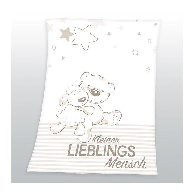Herding Kleiner Lieblingsmensch Microfaserflausch-Decke Kuscheldecke Babydecke